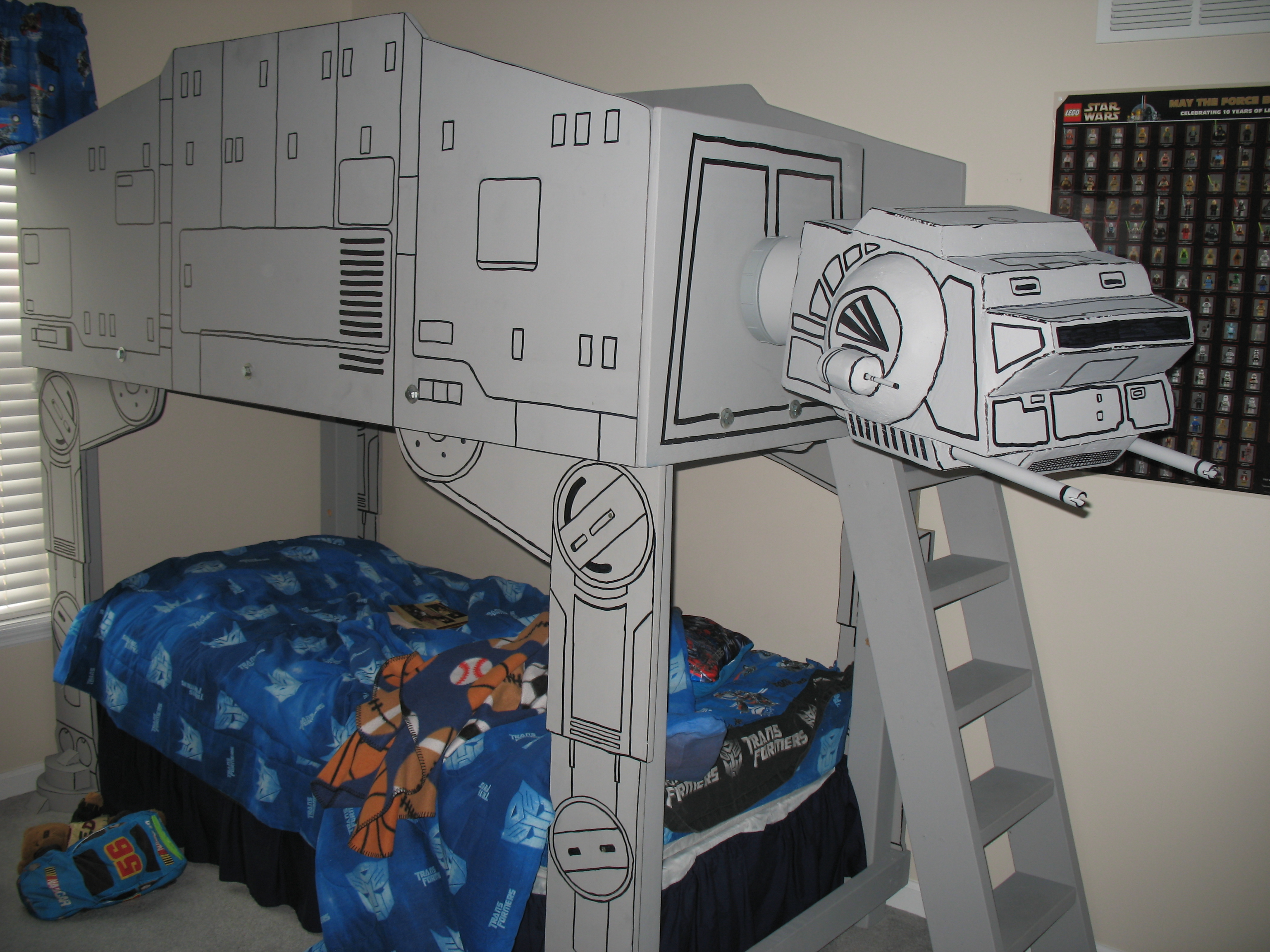 . Star Wars AT AT Imperial Walker Loft Bed  with Pictures