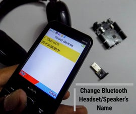 Change Bluetooth Headset/Speaker/Adapter's Name or Other Settings Through UART