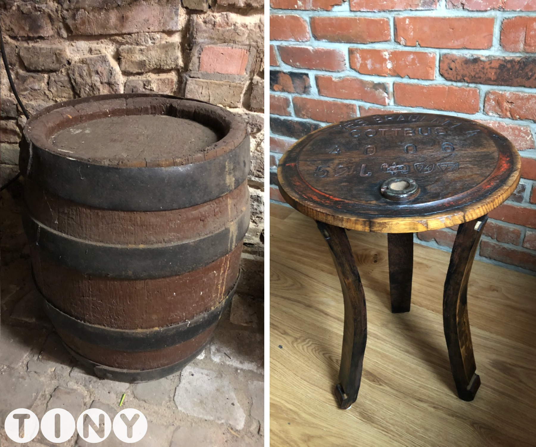 Picture of DIY Side Table From an Old Barrel