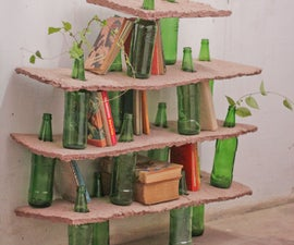 Beautility: An eco, easy and elegant beer bottle shelf.