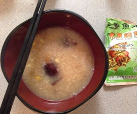 "Chinese Nutritious breakfast ""zhou"""