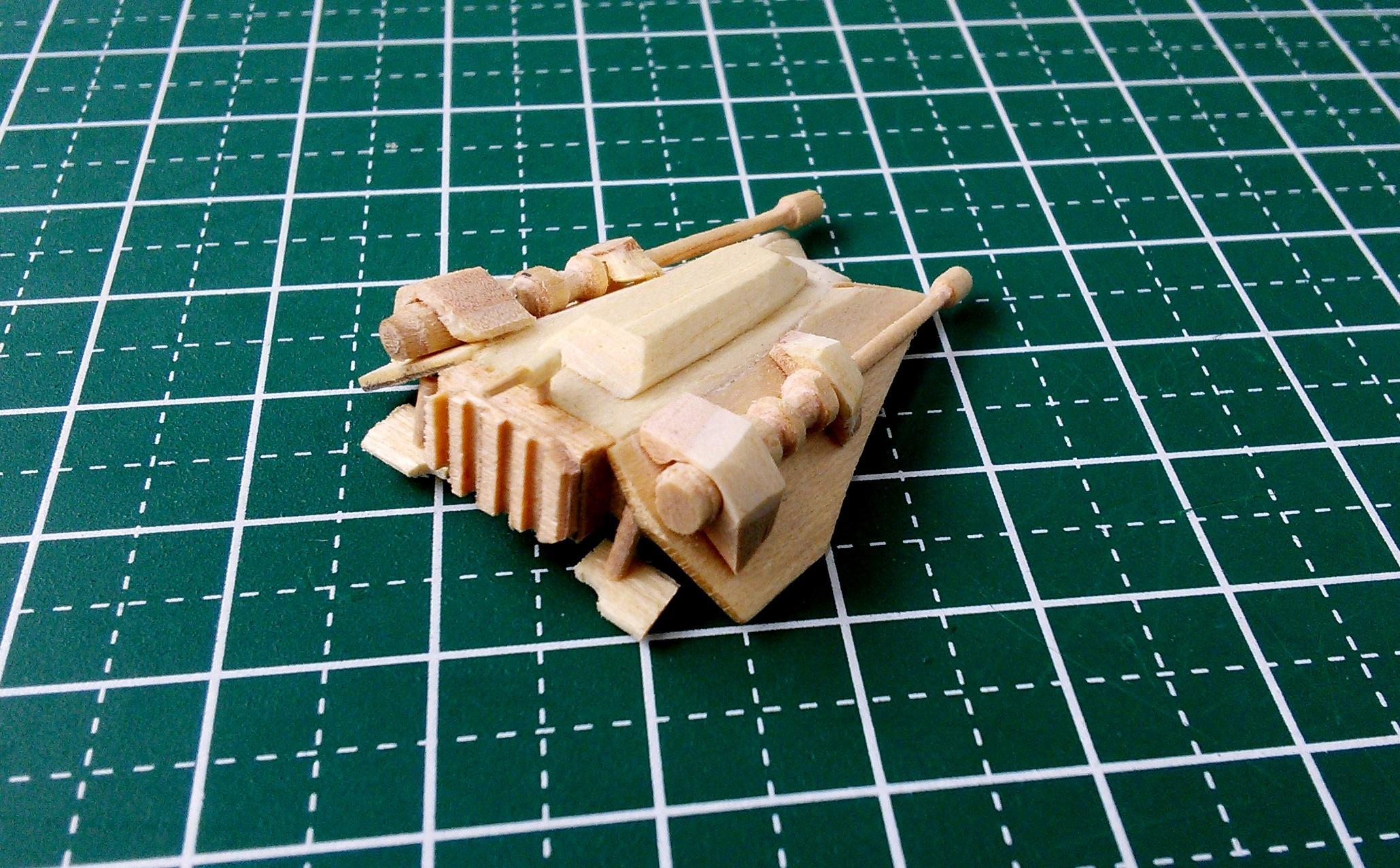 Picture of Mini Rebel Snowspeeder Popsicle Stick Model