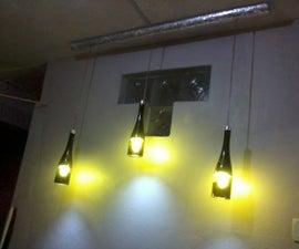 Light Pendant From Recycled Wine Bottles