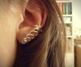Swirled wire ear cuff