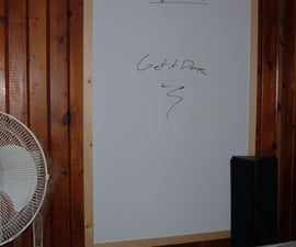 Homemade Whiteboard