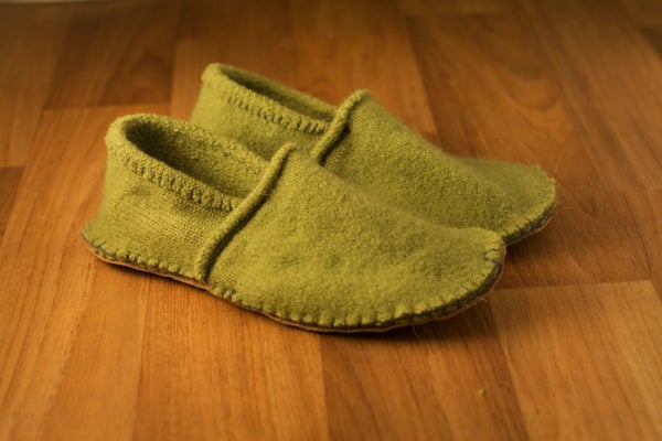 Cosy Slippers From Your Old Woolly Jumper