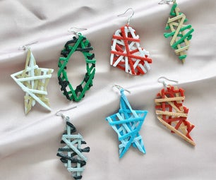 Crisscross Layered Earrings - Utilizing Color Changes Between Layers in 3D Prints