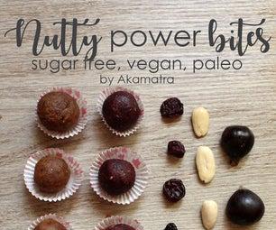 NUTTY POWER BITES - SUGAR FREE - GLUTEN FREE - VEGAN