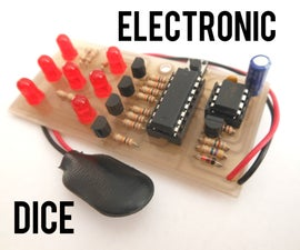 Electronic Dice With Slowdown - 555 & 4017