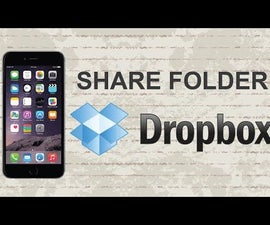 How to share a folder on Dropbox Mobile App