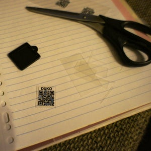 Laminate the QR-code