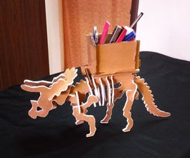 3D DINOSAUR SKELETON PEN HOLDER PUZZLE
