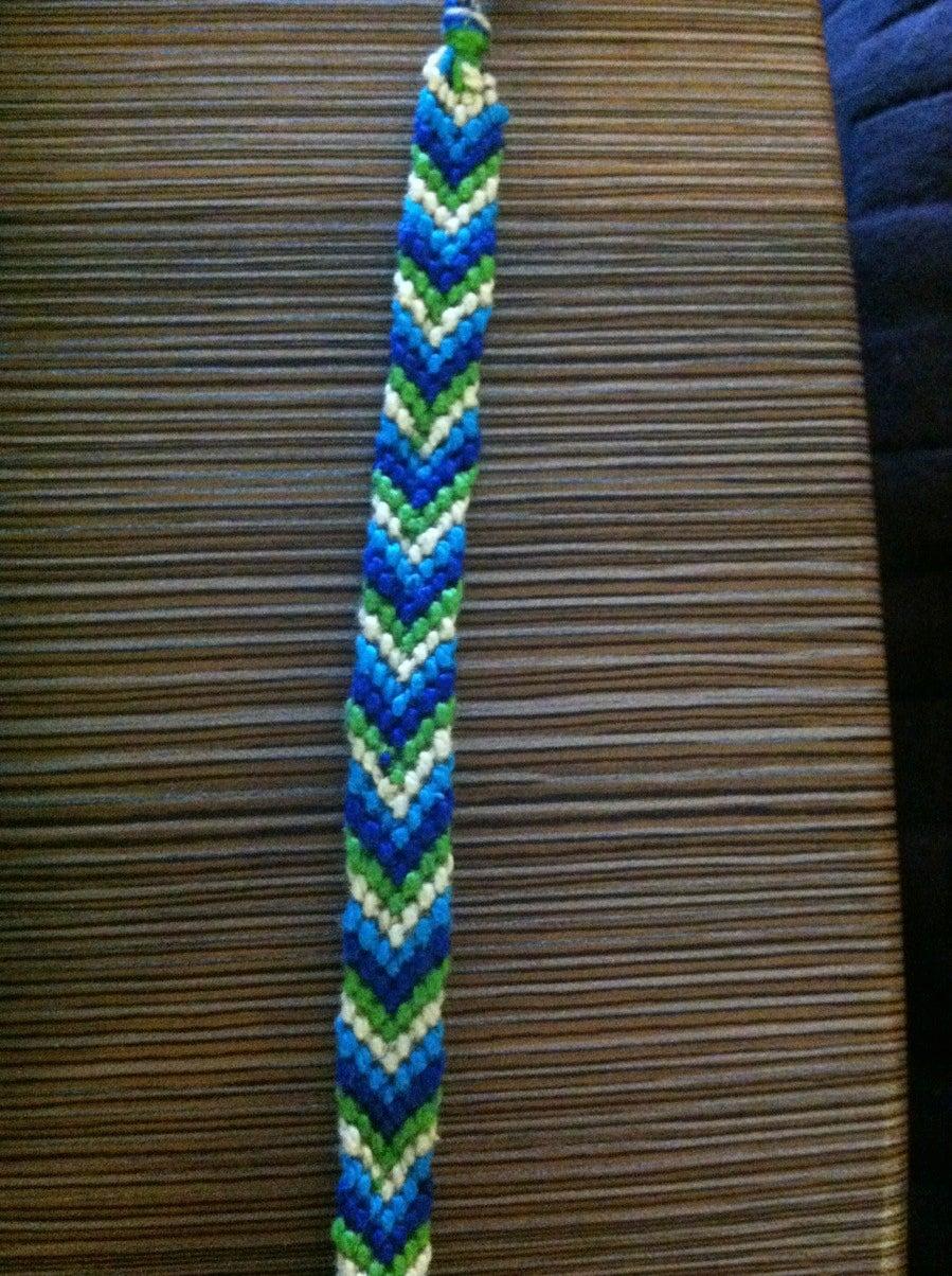 How To Make A Chevron Friendship Bracelet 7 Steps Instructables