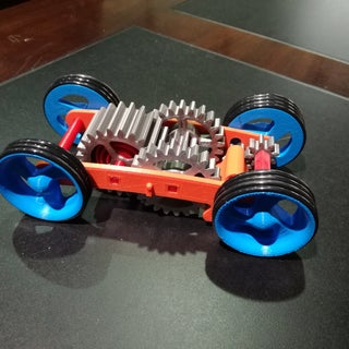 Tabletop Pull Back Tri-Mode Spring Motor Rolling Chassis