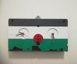 Upcycled Videotape Time Zone Clock