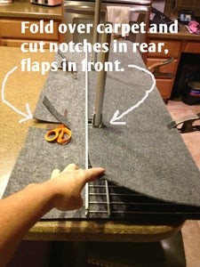 Upholster the Shelf - Cut the Carpet