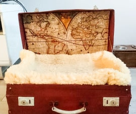 Restored Suitcase for a Bed Dog