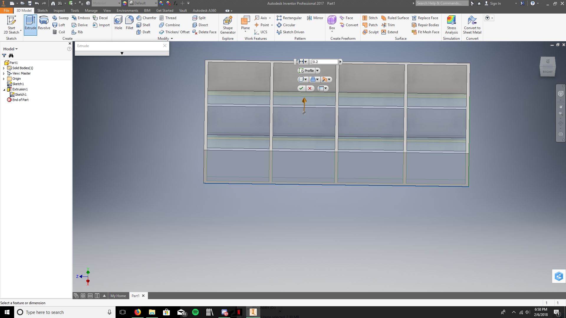 Picture of Extrude the Walls