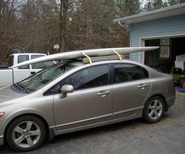 How I built a sturdy roof-rack for a windsurfer/surfboard