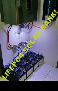 Lithium Iron Phosphate (LifePO4) Solar Storage Battery Bank