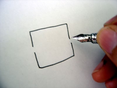 Draw a Square With a Couple of Gaps