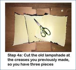 Transfer the Old Lampshade Onto Cardboard