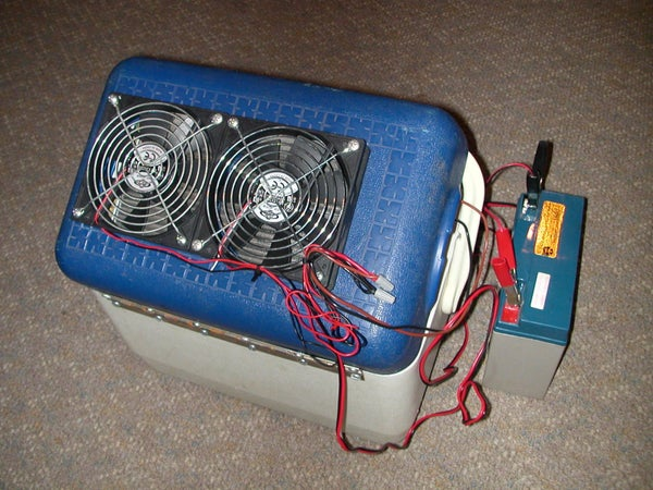 Portable 12V Air Conditioner --Cheap and Easy!