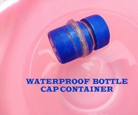 Water Proof Matchsticks Bottle Cap Container