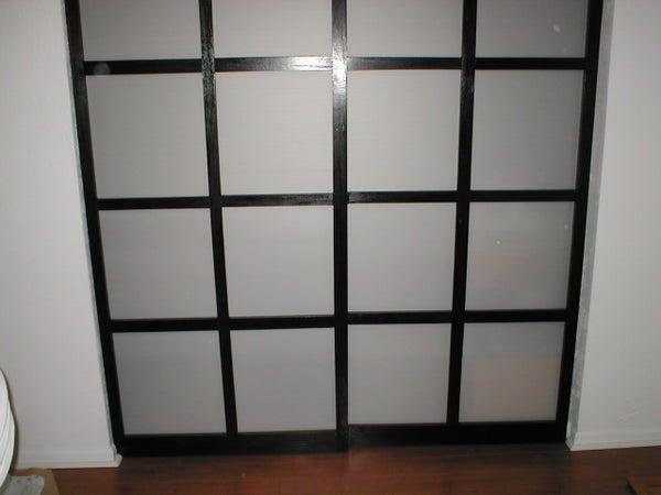 Shoji Style Sliding Closet Doors, From Scratch.