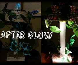 The Afterglow Lamp (paper mache and recycled materals)