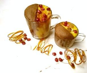 50/50 Coffee-Custard Mugcake