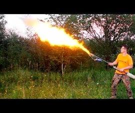 DIY FLAMETHROWER With Dextrin