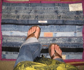 Recycle Denim: Floor mat from Waistbands and inseams