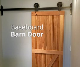 Baseboard Barn Door & Hardware