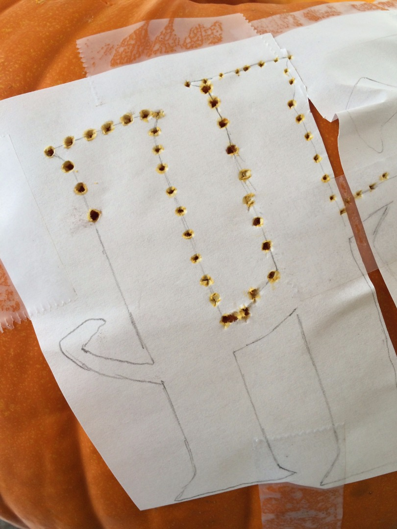 Picture of Take a Nail and Poke Small Holes Onto the Tracing