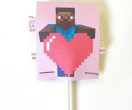 Minecraft Valentine's Lollipop Wrappers