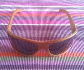 DIY wooden sunglasses with veneer