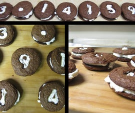 Whoopie Pi pies with whipped cream cheese filling