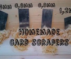 Homemade card scrapers