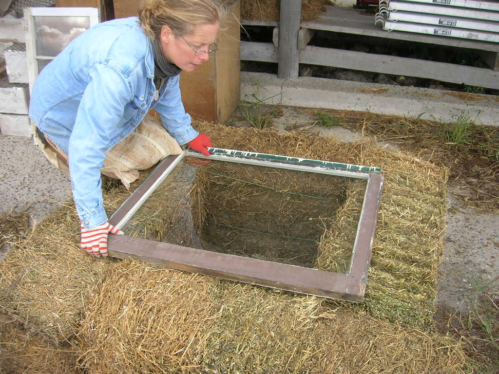 Picture of Place Window on Top of Hay Bales