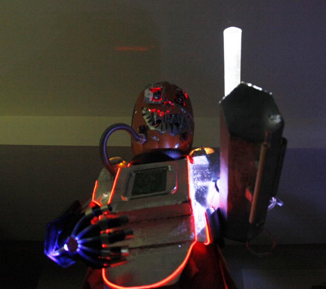 Picture of Mutant Cyborg Pumpkin Halloween Costume V1.3