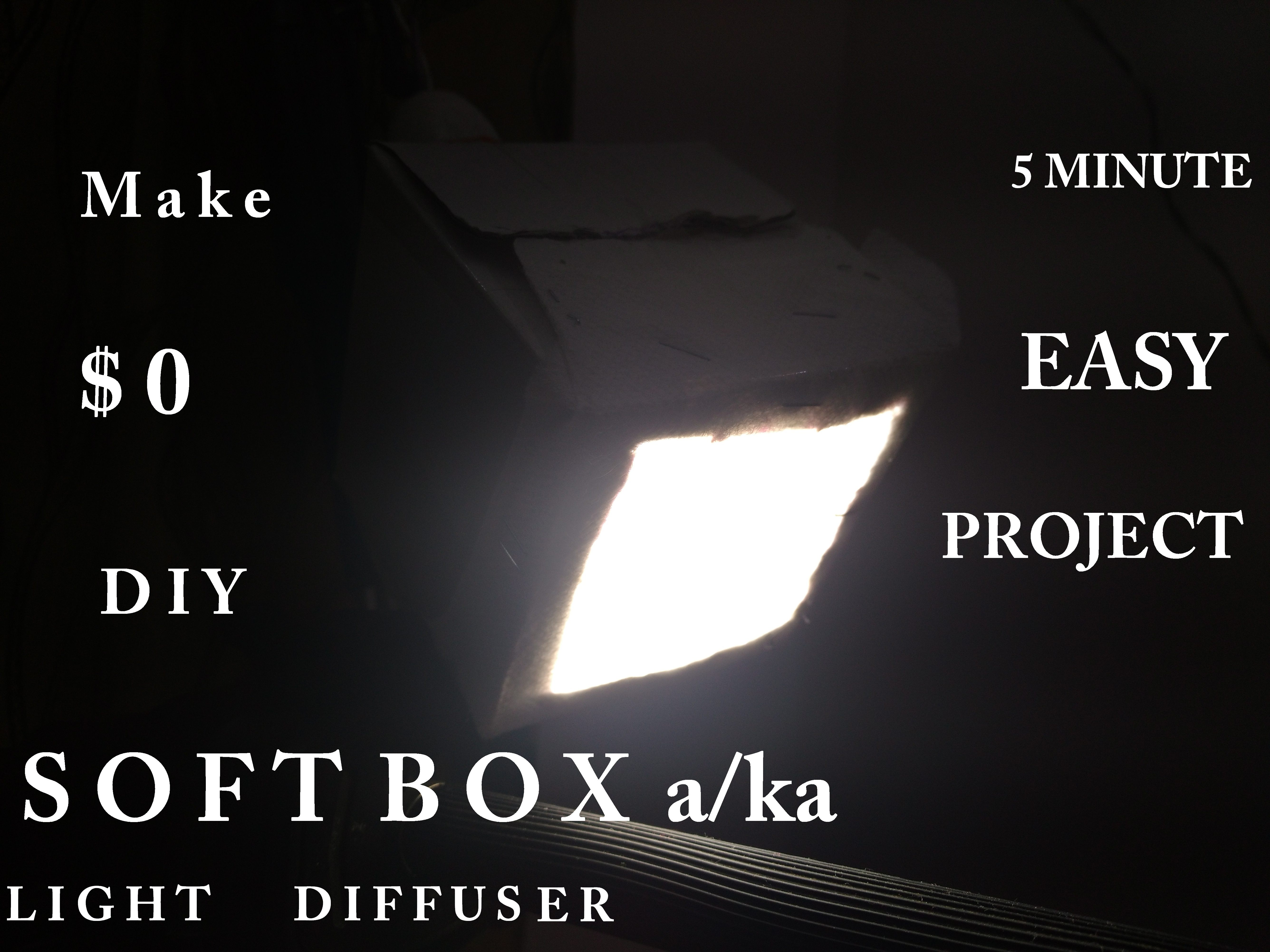 Picture of Make a SoftBox Aka Light Diffuser - 5 Min $0