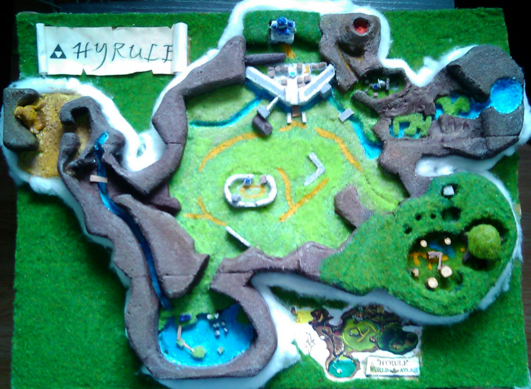 Picture of Zelda Ocarina of Time Hyrule World Map Diorama