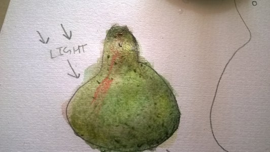 Pearfect Watercolor Pears