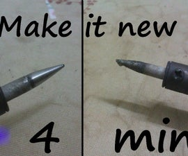 Make an Old Soldering Iron Tip New, Quick, Easy N Free