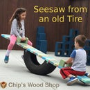 Seesaw From an Old Tire