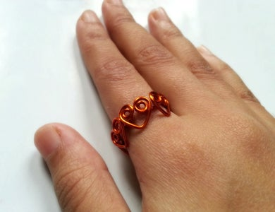 DIY Heart Wrapped Ring