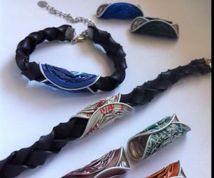How to Make an Inner Tube Bracelet With Interchangeable Colors
