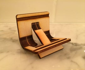 Laser Cut Wooden Phone Stand