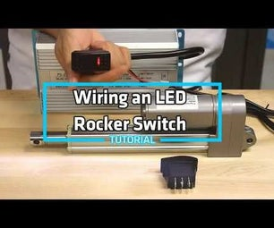 How-To Wire an LED Rocker Switch to a Linear Actuator